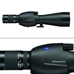 Zeiss Victory Diascope 85 T* FL 20-75X Spotting Scope Straight Black