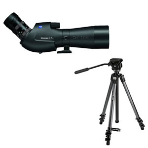 Zeiss Victory FL DiaScope 65T* FL angled Spotting Scope with Vario 20-75x Eyepiece and Carbon Tripod