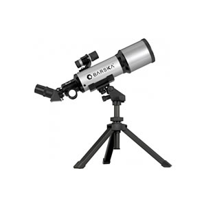 Barska 40070, 88x Compact Refractor Telescope, 400mm x 70mm Telescope w/ Table Top Tripod & Carrying Case 