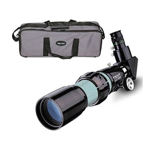TeleVue 76mm f/6.3 APO Refractor Telescope OTA with 20mm Plossl, 10/1 Reduction Focuser Green Tube