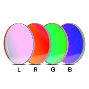 Baader 36X2mm Round Unmounted LRGB Color Filter Set w/UV-IR cut L filter
