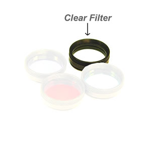 SBIG 1.25 inch Custom Scientific Clear Filter for RGB set (matching RGB filter thickness)