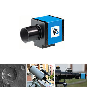 Imaging Source CCD Camera Monochrome USB Telescope Camera with 60 fps for Astrophotography